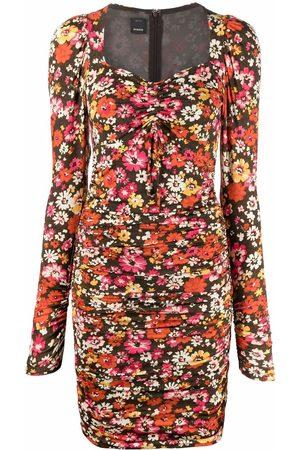 Pinko Floral-print puff-sleeve dress