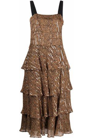 Pinko Leopard-print pleated dress