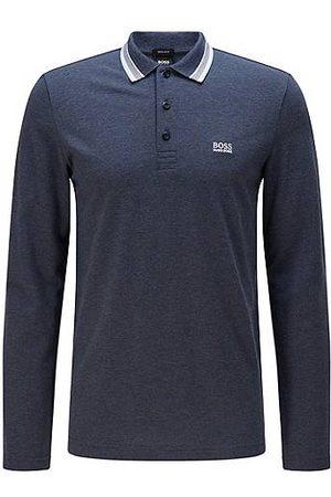 HUGO BOSS Herren Lange Ärmel - Regular-Fit Poloshirt aus Baumwoll-Piqué