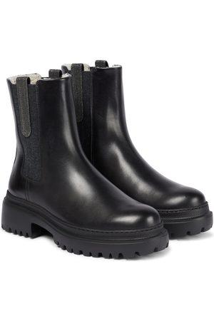 Brunello Cucinelli Exklusiv bei Mytheresa – Chelsea Boots aus Leder