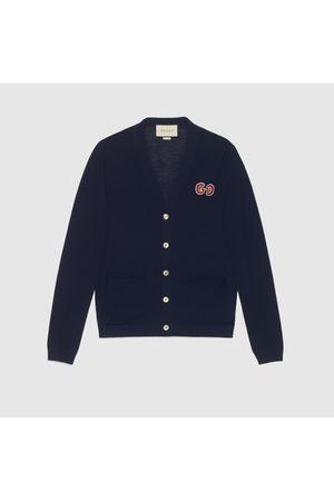Gucci Herren Sweatshirts - Cardigan aus Wolle mit GG