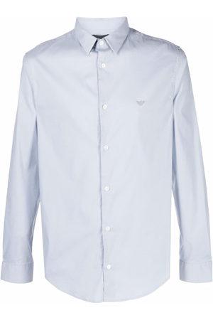 Emporio Armani Logo-embroidered long-sleeve shirt
