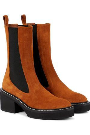 Khaite Damen Stiefeletten - Ankle Boots aus Veloursleder