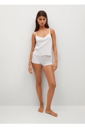 MANGO Pyjama-Shorts aus Baumwolle