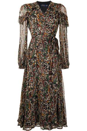 Polo Ralph Lauren Junia floral-print wrap midi dress