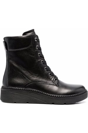 Geox Low wedge lace-up boots
