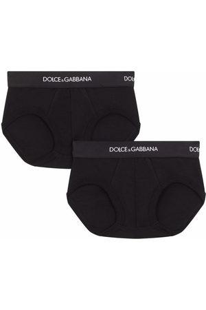 Dolce & Gabbana Pack of 2 logo-waistband boxer shorts