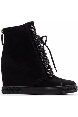 Casadei Damen Sneakers - Suede wedge-heel sneakers
