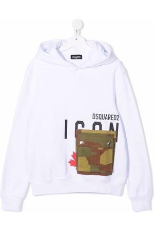 Dsquared2 TEEN camouflage-pocket hoodie