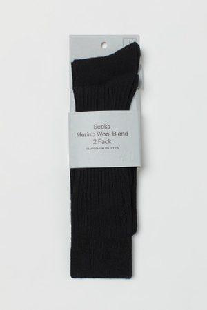H&M 2er-Pack Strümpfe aus Merinomix