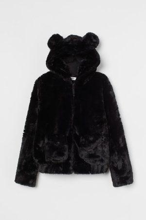 H&M Faux-fur-Jacke mit Kapuze