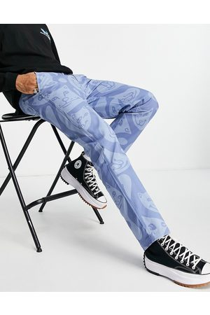 Rip N Dip Herren Chinos - RIPNDIP many faces all-over twill trousers in blue