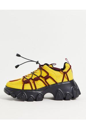 ASOS Durban chunky hiker trainers in multi-Yellow