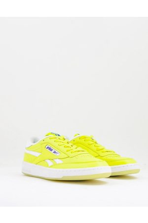 Reebok X Prince Club C 85 trainers in yellow and white