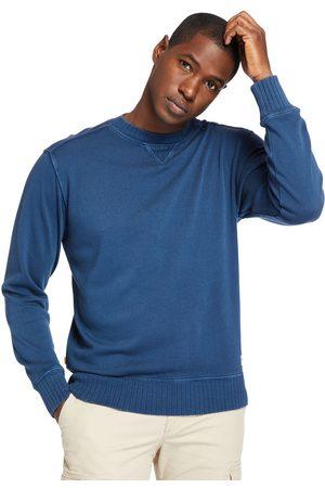 Timberland Herren Sweatshirts - Stückgefärbtes Rundhals-sweatshirt Für Herren In Dunkelblau Dunkelblau, Größe XXL