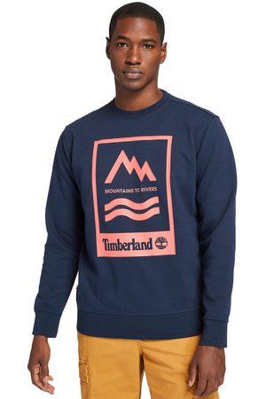 Timberland Herren Sweatshirts - Mountain-to-river Sweatshirt Für Herren Mit Grafik In Navyblau Navyblau, Größe M