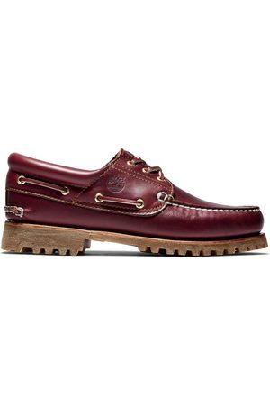Timberland Authentische ® 3-ösen-bootsschuhe Für Herren In Burgunderrot Burgunderrot, Größe 40