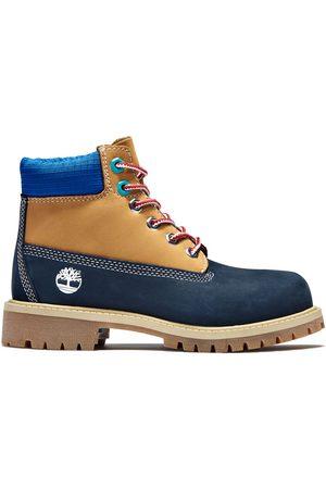 Timberland Premium 6-inch-stiefel Für Kinder In Navyblau Navyblau, Größe 35