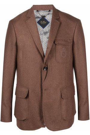 BILLIONAIRE Embroidered-logo tailored blazer
