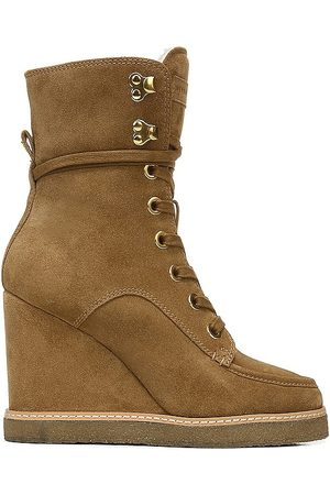 VERONICA BEARD Ananya Wedge Bootie in - Brown. Size 10 (also in 6, 6.5, 7, 7.5, 8, 8.5, 9, 9.5).