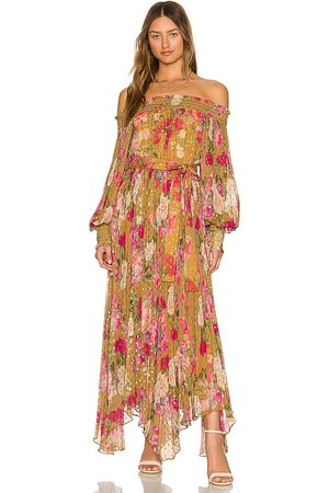 ROCOCO SAND Avar Off Shoulder Dress in - Mustard. Size M (also in S, XS).
