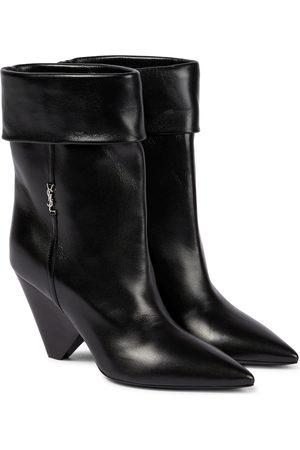 Saint Laurent Ankle Boots Liz 85 aus Leder