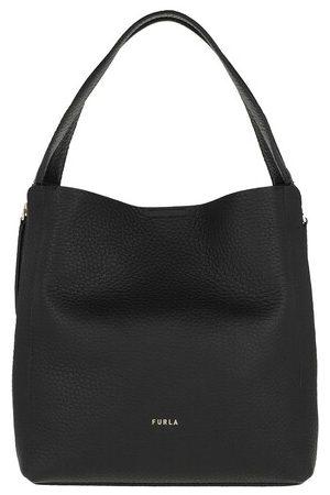 Furla Damen Umhängetaschen - Crossbody Bags Grace M Hobo W/Zip - in black - Umhängetasche für Damen