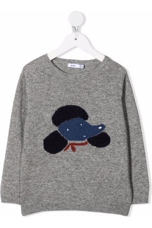 KNOT Mädchen Pullover - Dog-print knitted sweater