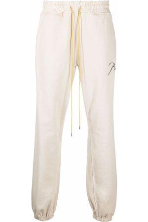 Rhude Herren Jogginghosen - Embroidered-logo lounge trousers