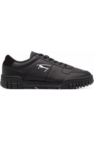 Tommy Hilfiger Suede panelled low-top trainers