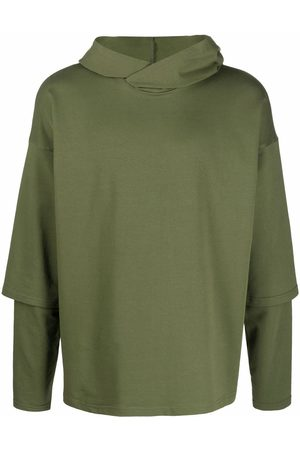 Alchemy Layered-sleeve hoodie