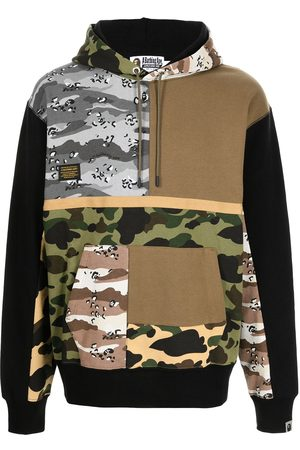 A BATHING APE® Camouflage-print panelled hoodie