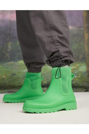ASOS Wellington boot with scuba detail in green