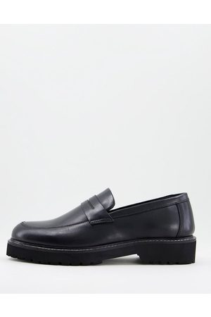Dune Sally loafers in black leather