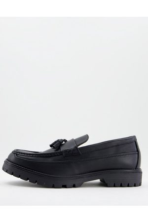 River Island Chunky sole loafers in black