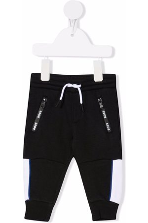 HUGO BOSS Logo-print cotton track trousers