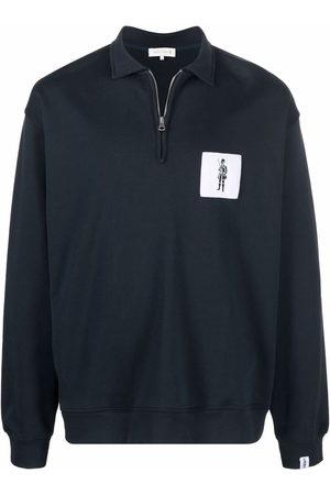 MACKINTOSH Herren Poloshirts - Logo-patch zip-placket polo sweatshirt