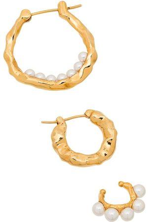 Joanna Laura Constantine Waves set of three earrings